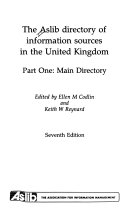 The Aslib Directory of Information Sources in the United Kingdom PDF