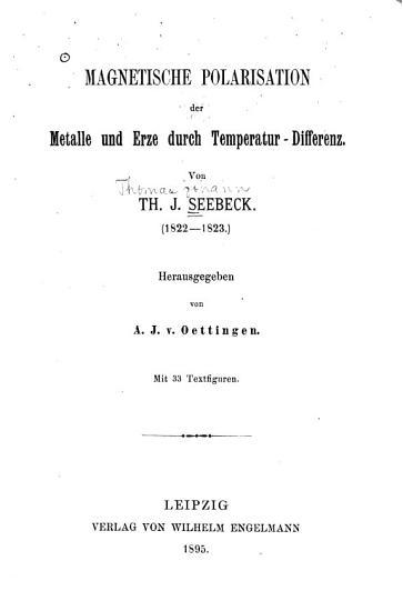Magnetische Polarisation der Metalle und Erze durch Temperatur Differenz PDF