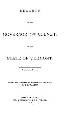 Records of the Council of Safety and Governor and Council of the State of Vermont PDF