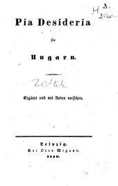 Pia desideria für Ungarn