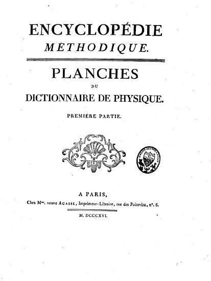 Planches du dictionnaire de physique PDF