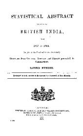 East India (Statistical Abstract).: Statistical Abstract Relating to British India, Issue 2