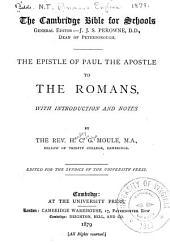 The Epistle of Paul the Apostle to the Romans: Volume 38