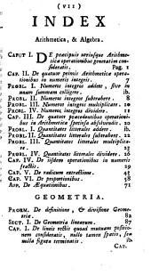 Institutiones philosophicae ad studia theologica potissimum accomodatae: Quo elementa arithmeticae, algebrae, [et] geometriae continentur, Volume 3
