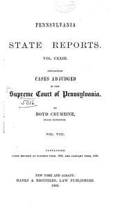 Pennsylvania State Reports: Volume 123