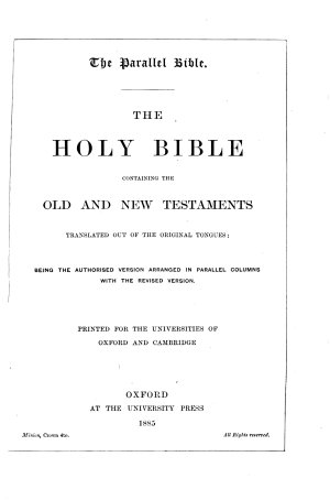 The Parallel Bible