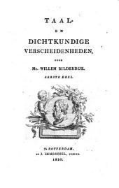 Taal- en dichtkundige verscheidenheden: Volume 1