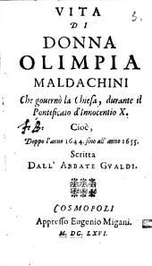 Vita di Donna Olimpia Maldachini