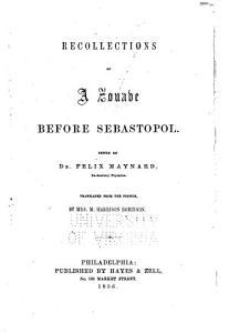 Recollections of a Zouave Before Sebastopol PDF