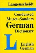 Condensed Muret-Sanders German Dictionary
