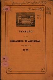 Verslag van het Zeemanshuis te Amsterdam over het jaar ....: Volume 1