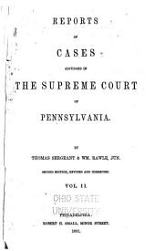 Reports of Cases Adjudged in the Supreme Court of Pennsylvania: 1815-1816