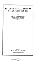 An Organismal Theory of Consciousness