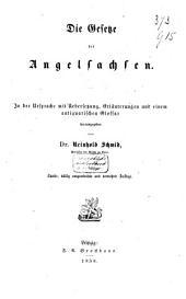 Die Gesetze der Angelsachsen