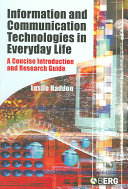 Information and Communication Technologies in Everyday Life PDF