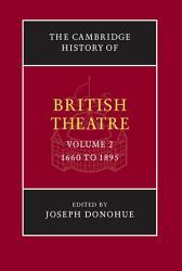 The Cambridge History Of British Theatre Book PDF