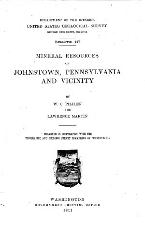 Mineral Resources of Johnstown, Pennsylvania and Vicinity