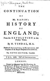 The History of England: Volume 19
