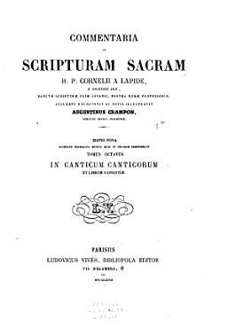 In Canticum Canticorum  pars 3 4  et librum Sapientiae PDF