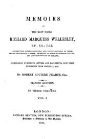 Memoirs and Correspondence of the Noble Richard Marquess Wellesley: Volume 2