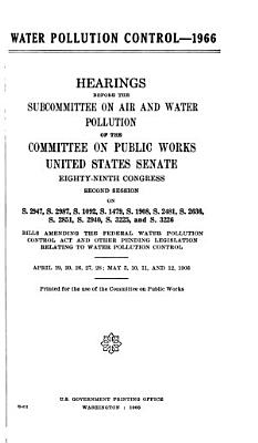 Hearings  Reports and Prints of the Senate Committee on Public Works