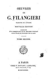 Œuvres de G. Filangieri: Suite du précédent. Des lois criminelles