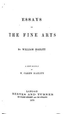 Essays on the Fine Arts PDF