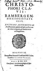 Christophori Clavii epitome arithmeticae practicae