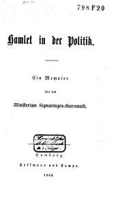 Hamlet in der Politik: eine Memoire über das Ministerium Sigmaringen-Auerswald