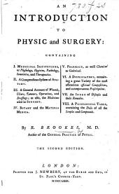 An Introduction to Physic and Surgery ... The second edition