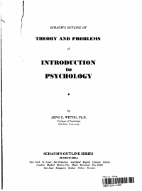 Schaum s Outline of Theory and Problems of Introduction to Psychology PDF