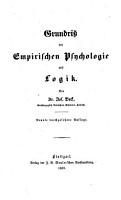 Grundriss der empirischen Psychologie und Logik PDF