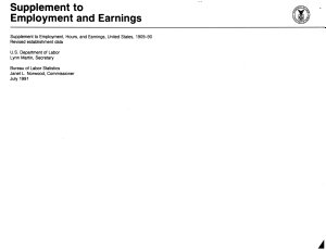 Supplement to Employment and Earnings  Revised Establishment Data