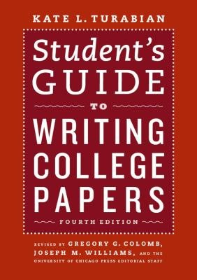 Student s Guide to Writing College Papers PDF