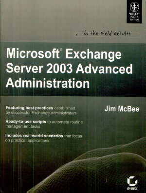 MS EXCHANGE SERVER 2003 ADVANCED ADMINISTRATION PDF