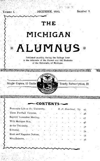 The Michigan Alumnus PDF