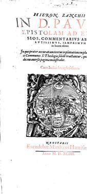 In d. Pauli epistolam ad Ephesios Commentarius