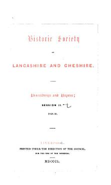 Proceedings and Papers   Historic Society of Lancashire and Cheshire PDF