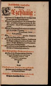 Außführliche, warhaffte und bestendige Erzehlung: Was vom H. Nachtmal Christi, die Lehre dern so man unbefügt Calvinisch nennet : Was im Sacramentstreitt für vornemme Sachen, zu desselben Hinlegung sich bey D. Luther begeben, biß zur Wittenbergischen Concordien ... zu halten sey