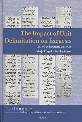 The Impact of Unit Delimitation on Exegesis PDF