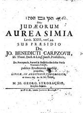 Iudaeorum aurea simia