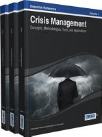 Crisis Management  Concepts  Methodologies  Tools  and Applications PDF