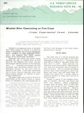 Windfall after clearcutting on Fool Creek: Fraser Experimental Forest, Colorado