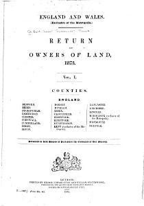 Return of Owners of Land  1873 PDF