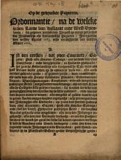 Ordonnantie, na de welcke in den Lande van Hollandt ende West-Vrieslandt, sal werden geheven den impost op eenige gedruckte soo inlandtsche als uytlandtsche papieren: ingaende den eersten April 1683 ende eyndigende den laetsten Maart 1684, Volume 1