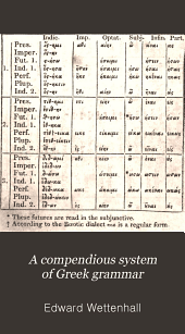 A Compendious System of Greek Grammar: In English and Greek. An Edition Literally Translated from the Latest and Most Approved Editions of Wettenhall's Grammar ...