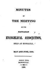 Minutes of the Meeting of the Hawaiian Evangelical Association