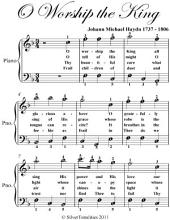 O Worship the King - Easy Piano Sheet Music