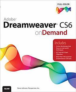 Adobe Dreamweaver CS6 on Demand PDF