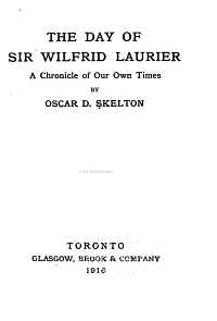 The Day of Sir Wilfred Laurier